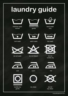 Laundry Chart. From ATypicalEnglishHome.com