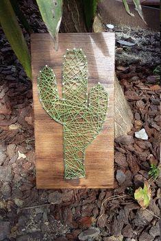 CUADRO STRING ART Cactus por Hiboubazar en Etsy