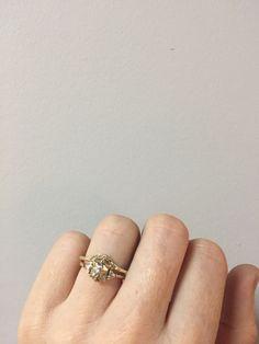 MACHA: Chloe Rockwell ring. 14k white gold with trillion diamonds. $2,500. #whitegold #goldrings #diamondrings #rockwell #engagementrings #weddingrings #statementrings #giftsforher #giftsforhim #giftsformen #giftsforwomen #14krings #uniquerings #proposal #marriage