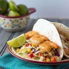 Shrimp Tacos with Spicy Coleslaw on MyRecipeMagic.com