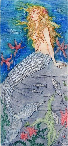 ♒ Mermaids Among Us ♒ art photography paintings of sea sirens water maidens - Debra McFarlane Illustrator: The Little Mermaid