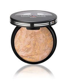 magic powder!! laura gellar balance n brighten. gives you a slight glow but very natural. Also works as eye shadow !