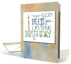 Birthday Blessings, Religious Birthday Card