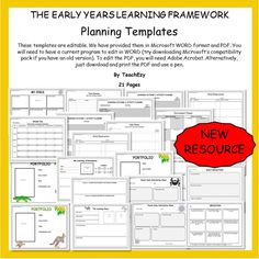 Make Your Job Easier With The Eylf Templates Perfect For Kindergartens Preschools Or Day Care Centres Click Here Www Teachezy To
