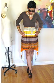 """Diy Skirts, Dark Brown Forever 21 Tops 
