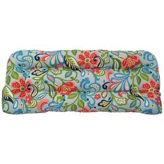 Metje Wildwood Floral Indoor Outdoor Reversible Bench Cushion ($92) ❤ liked on Polyvore featuring home, outdoors, patio furniture, outdoor benches, multicolor, outdoors patio furniture, outdoor furniture, outdoor garden bench, outdoor patio furniture and indoor outdoor furniture