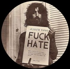 "ZAPPA IN FRANCE: The Earth Rose ""FUCK HATE"" Zappa photography from 1966"