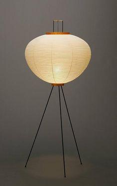 New Isamu Noguchi AKARI 10A Floor Lamp Washi Paper Japanese Light Handcraft JPN   Home & Garden, Lamps, Lighting & Ceiling Fans, Lamps   eBay!