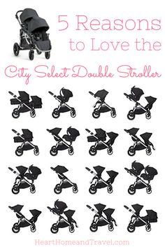 The City Select Double Stroller is perfect for the growing family! With 16 combinations, it's one of the most versatile strollers available! via /hearthometravel/ Get the perfect stroller for your child Diaper Stroller, Bob Stroller, Toddler Stroller, Jogging Stroller, Stroller Workout, City Stroller, Umbrella Stroller, Double Stroller For Twins, City Select Double Stroller