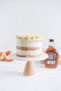 Spiced Brown Sugar Cake with Cinnamon Apple Filling and Maple Caramel German Buttercream — Cloudy Kitchen Brown Sugar Cakes, Apple Filling, Fall Cakes, Thing 1, Spice Cake, Cake Tins, Fall Desserts, Cinnamon Apples, Sugar And Spice