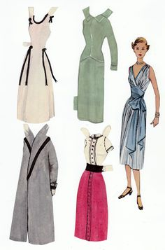 The Paper Collector: Pattern book paper doll, c.1950s