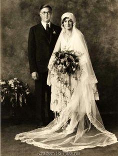 Stunning 1920s Vintage Wedding Photo Bride Groom  | eBay