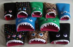 Monster sleeping bags for piggies, so cute!!!