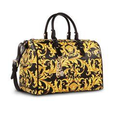 632a4ccbbf  Versace Medusa Heritage Barocco duffle bag with iconic Medusa head.