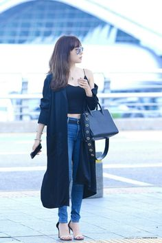 [160726] Tiffany at Incheon Airport To Singapore for Pandora event