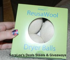 ReusaWool Dryer Balls Giveaway ~ Ends 3/08 Enter at http://deliciouslysavvy.com