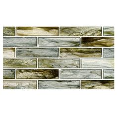 "Complete Tile Collection Zumi Glass Mosaic - Azureal - Natural, 1-3/8"" x 5-3/4""  Large Brick  Recycled Glass Mosaic, MI#: 038-G2-263-411, Color: Azureal"