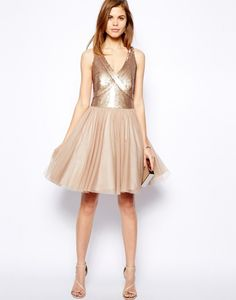You'll feel like a princess in this sequined number.