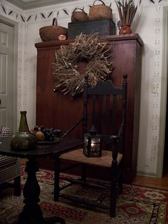 Fall Picture's~~~2015 Linda B. www.picturetrail.com/theprimitivestitcher Primitive Fall, Primitive Homes, Country Primitive, Primitive Decor, Primitive Shelves, Primitive Furniture, Prim Decor, Country Decor, Country Homes