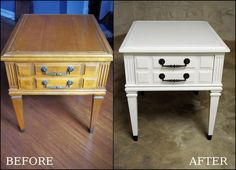 Hennessey House: Goodwill Side Table Redo