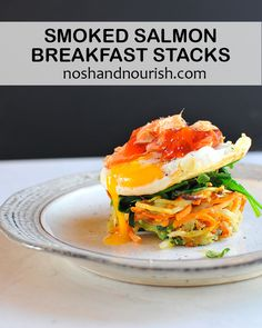 smoked salmon recipes   mothers day brunch   smoked salmon and eggs   spiralized veggies