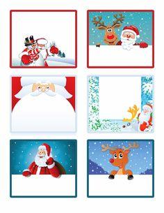 Tiernas etiquetas para Navidad, para Imprimir Gratis.