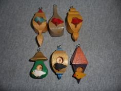 Whimsical Birdhouse Ornaments by dreamwvr81 on Etsy, $12.50