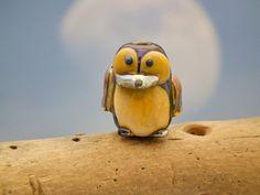 Mr Penguin lampwork penguin bird bead sra by DeniseAnnette on Etsy, $15.00