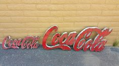 Coca Cola Metal Sign by GardenMetalDecor on Etsy https://www.etsy.com/listing/466544617/coca-cola-metal-sign