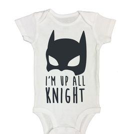 """Cute Onesie """"I'm Up All Knight"""" 517 Short or Long Sleeve Baby Onesies, Bodysuit, Cute Onesie, Newborn onesie, Batman Onesie, Funny Bodysuit - http://www.babies-clothes.info/cute-onesie-im-up-all-knight-517-short-or-long-sleeve-baby-onesies-bodysuit-cute-onesie-newborn-onesie-batman-onesie-funny-bodysuit.html"""