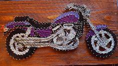 Custom Motorcycle String Art by BuckleNation on Etsy https://www.etsy.com/listing/280457258/custom-motorcycle-string-art