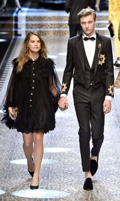 "Lucky Blue Smith and Stormi Bree  In March 2017, red hot male model Lucky Blue Smith,18, and his girlfriend Stormi Bree – seen here on the Dolce & Gabbana runway – confirmed they are expecting their first baby together. Lucky took to his Instagram to announce the big news alongside a black and white photo of himself and Stormi, a model, actress, singer and former Miss Teen USA. ""Hey guys, I just wanted to let you in on an important part of my personal life. I have some wonderful and…"
