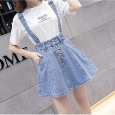 Really need more denim skirts out there > <