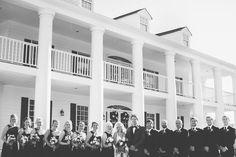 Wedding Party Outside Sanctuary Estate