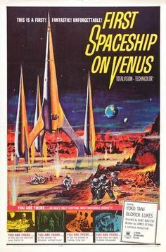 First Spaceship On Venus Movie poster Metal Sign Wall Art 8in x 12in
