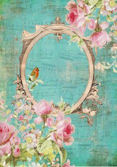❤️ Free printable shabby cottage chic rose print image. DiGiTaL DeSiGn- Once upon a Blue. Personal use only please ... Alda Stevens ~ Flying Unicorn: DiGiTaL DeSiGn - Once upon a Blue