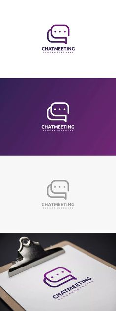 Chat and Connection Logo Template AI, EPS
