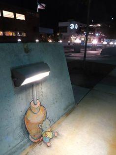 David Zill: artist;   Street Chalk Drawings: Ann Arbor, Michigan
