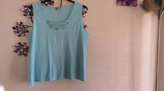 BE YOUR SELF   LOVELY  COTTON  BLUE TOP SIZE 26-28 #BEYOURSELF #OtherTops #Casual