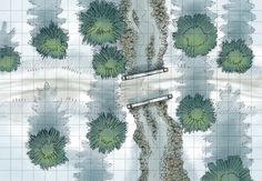 The Snowy Road, a battle map for D&D / Dungeons & Dragons, Pathfinder, Warhammer and other table top RPGs. Tags: river, water, bridge, wilderness, road, forest, plains, snow, stream