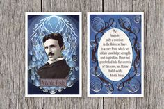 Tesla Portrait and Inspirational Quote Print Set   15 Gifts For The Science Lovers On Your List