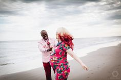 What can be more perfect than a fun session at the famous Coney Island Lunapark and Beach, in the lovely pink tones to announce their baby girl? #nyc #lovestory #brooklyn #maternity #pregnancy #coneyisland #astroland #lunapark