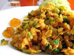 Indická červená čočka Fried Rice, Risotto, Fries, Food And Drink, Cooking, Ethnic Recipes, Kitchen, Nasi Goreng, Stir Fry Rice