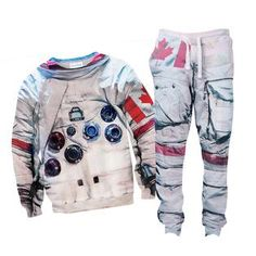"""""""If just the sweater isn't enough for your space-filled dreams, try our combo! Astronaut Suit, Military Jacket, Joggers, Casual Outfits, Costumes, Suits, Denim, Sweatshirts, Sweaters"""