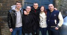 Florian Coulan (c) and friends from France, who fell victim to a sophisticated online accommodation booking scam. Mews House, Dublin, French, Fall, Ireland, Fashion, Autumn, Moda, French People