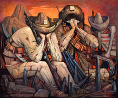 Jorge González Camarena, 'Canción de la esperanza', 1975. Archivo de la Academia de Artes, México / arte, pintura, campesinos, revolución, postrevolución, 70s