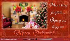 Wish everyone a joyous Christmas season with this beautiful and elegant Christmas ecard.