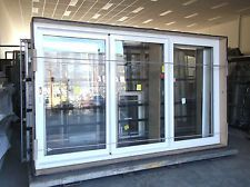Aluminium Sliding Stacker Door White 2120H X 3530W L frame D129