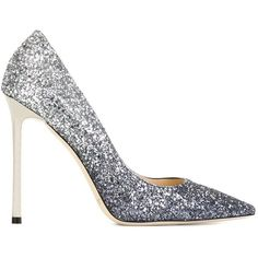 Jimmy Choo 'Romy' pumps (€615) ❤ liked on Polyvore featuring shoes, pumps, heels, blue, sapatos, stiletto heel pumps, jimmy choo shoes, glitter pumps, pointy-toe pumps and blue glitter shoes