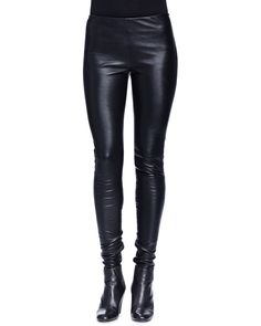 Skinny-Fit Leather Trouser